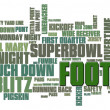 Football Word Cloud - Stockfoto