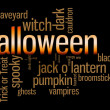 Halloween Word Cloud — Stock Photo