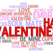 Happy Valentine&#039;s Day Word Cloud - Foto Stock