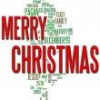 Merry Christmas Word Cloud — Foto Stock