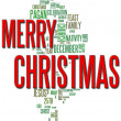 Merry Christmas Word Cloud — Stock fotografie