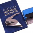 Stock Photo: Notary Register Embosser and Stamp
