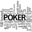 Poker Word Cloud - Stockfoto