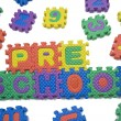 Preschool letters - Foto Stock