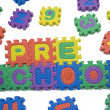 Stock Photo: Preschool letters