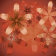 Stock Photo: Red Orange Floral Background