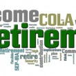 Retirement Word Cloud - Foto Stock