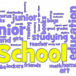 School Word Cloud - Foto Stock