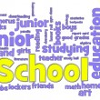 School Word Cloud — Stock fotografie #5612527