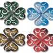 Shamrock design four colors — Stok Fotoğraf #5612531