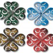 Shamrock design four colors — 图库照片 #5612531