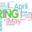 Spring Word Cloud — Stockfoto