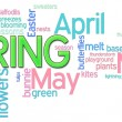 Spring Word Cloud — Foto Stock