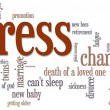 Stress Word Cloud - Stockfoto