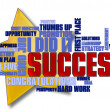 Success Word Cloud - Lizenzfreies Foto