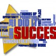 Success Word Cloud — Foto de stock #5612545