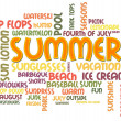 Foto Stock: Summer Word Cloud