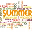 Summer Word Cloud — Stock fotografie