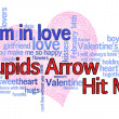 Cupids Arrow Valentines Day — Stok fotoğraf