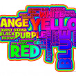 Foto Stock: Vibrant Color Word Cloud
