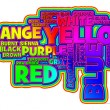 Stockfoto: Vibrant Color Word Cloud