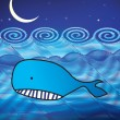 Whale illustration — Foto Stock