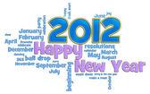 Feliz ano novo 2012 — Foto Stock