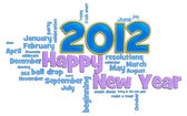 Frohes neues jahr 2012 — Stockfoto
