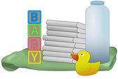 Baby diapers illustration — Photo