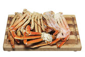 Crab Legs Isolated on White — Stock Photo