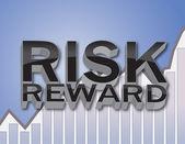 риск вознаграждение — Стоковое фото