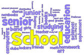 School Word Cloud — Stock Photo