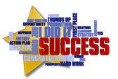 Nube de palabras de éxito — Foto de Stock