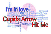 Cupids Arrow Valentines Day — 图库照片