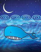 Whale illustration — Stock Photo