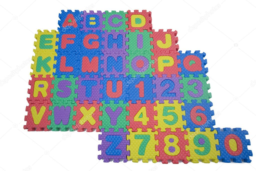 Foam letters and numbers on white stock photo 169 mary981 5612480