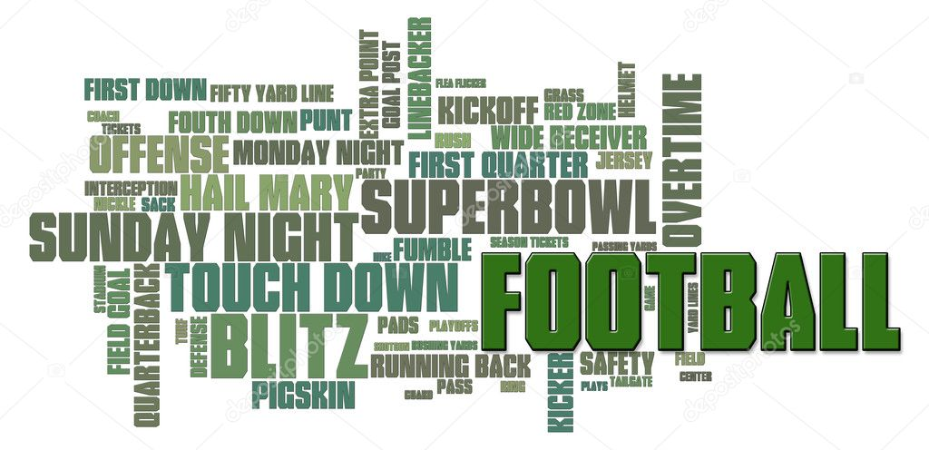 American Football Word Cloud on a white background — Foto de Stock   #5612484