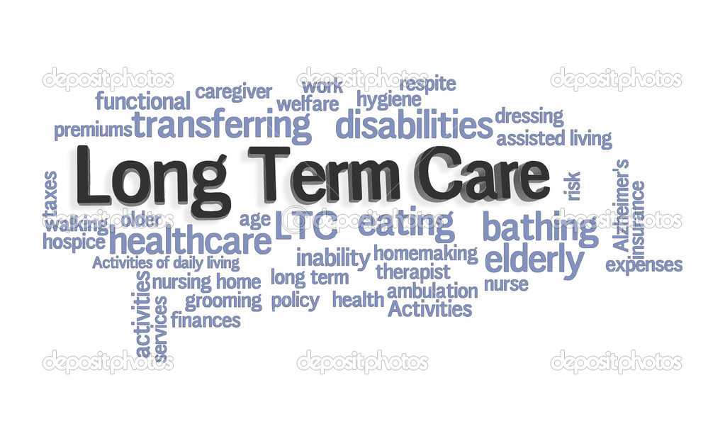 Long Term Care Word Cloud on White Background — Stock Photo #5612495