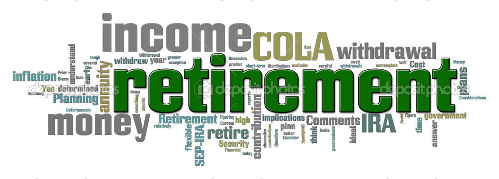 Word cloud illustration with retirement concept horizontal  — Stock Photo #5612525