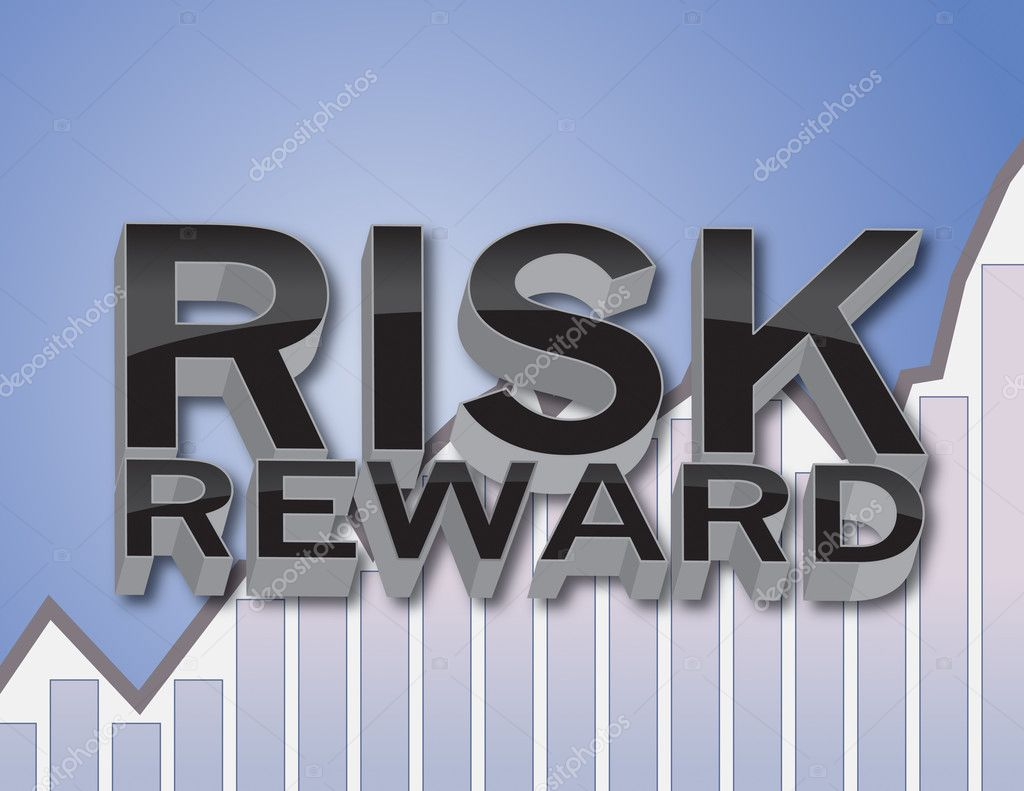 3D Risk and Reward Financial Concept Illustration — Stock Photo #5612526