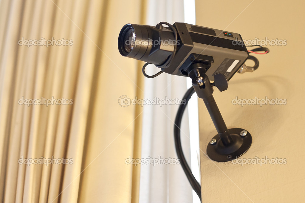 A security camera records inside a building — Stock Photo #5612530