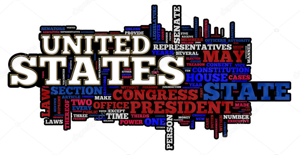 United States of America themed word cloud  Stock Photo #5612553