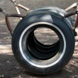 Recycled Tires Playground Equipment - Zdjcie stockowe
