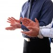 Businessmen clapping — Stock Photo