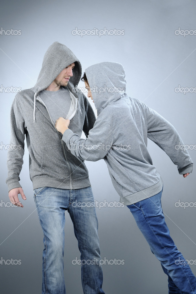 White attractive girl exercising dance with her partner — Stock Photo #5542799