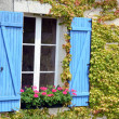 Blue window - Stock Photo