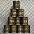 Golden Tins — Stock Photo