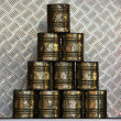 Golden Tins - Stock Photo