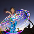 Hoop dancer performing. - Stock Photo