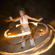 Stock Photo: Hoop dancer performing.